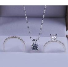 Opal- Bộ trang sức bạc đính đá _T05