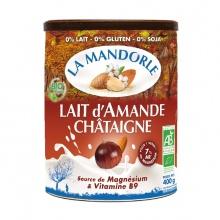 Sữa hạnh nhân hạt dẻ hữu cơ La mandorle 400g