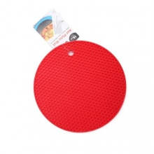 Miếng lót nồi bằng silicon 18cm UBL KS0523 đỏ
