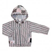 Áo khoác mỏng bé gái 6172 - AN6172 - Size 1 - 6 Years (Ô vuông xám đậm) - GiGi Girls
