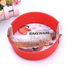 Khay nướng bánh hình tròn bằng silicon UBL KC0017 đỏ