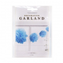 Vòng hoa Pom Pom màu xanh dương 2.7M. UBL YE0022A