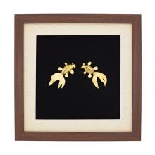 Tranh đôi cá mạ vàng - TDCA