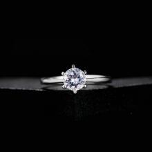 Opal - Nhẫn bạc đính đá ross _T06
