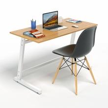 Bộ bàn làm việc CZN-Pisa gỗ cao su veneer sồi chân trắng và ghế eames đen  - COZINO