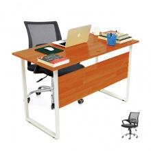 Bộ bàn Rec-F Plus chân trắng màu cánh gián và ghế IB517 - IBIE