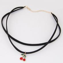 Vòng cổ choker cherry  - Tatiana - CD2520 (Đen)