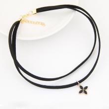 Vòng cổ choker hoa liti - Tatiana - CD2527 (Đen)