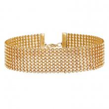 Vòng cổ choker định đá trai -  Tatiana - CD2537 ( Vàng)