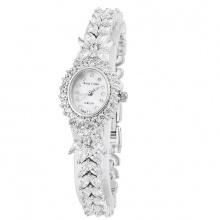Đồng hồ nữ chính hãng Royal Crown 2527 dây đá vỏ trắng
