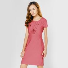 Đầm công sở thời trang Eden màu hồng - D295