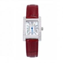 Đồng hồ nữ chính hãng Royal Crown 6306 dây da đỏ