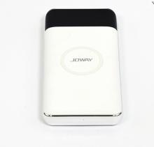 Pin dự phòng kiêm sạc không dây JOWAY JP150 trắng - 10.000mAh - Hãng phân phối chính thức