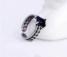 Nhẫn bạc thái đá đen - Tatiana - NB2332 (Đen)