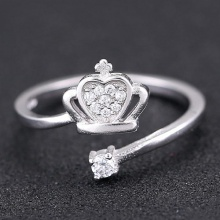 Nhẫn bạc cute crown - Tatiana - NB2335 (Bạc)