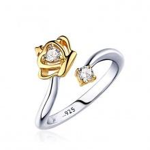 Nhẫn bạc cute crown - Tatiana - NB2335 (Bạc+Vàng)