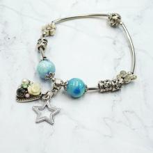 Vòng tay charm đá ngôi sao may mắn - Tatiana - VH2266 (xanh dương)