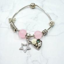 Vòng tay charm đá ngôi sao may mắn - Tatiana - VH2266 (Hồng)