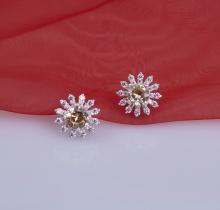 Opal - Bông Tai bạc hoa mặt trời_T06