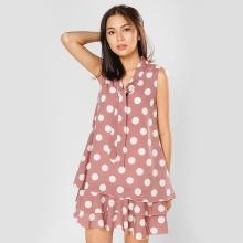 Đầm suông thời trang Eden chấm bi D296 (hồng)