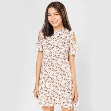 Đầm suông thời trang Eden in hoa D297 (trắng)