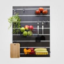 Bảng trang trí Slatwall nhà bếp SMLIFE 80x60cm S1 - Black - Màu đen