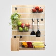 Bảng trang trí Slatwall nhà bếp SMLIFE 80x60cm S1 - Wood - Màu gỗ