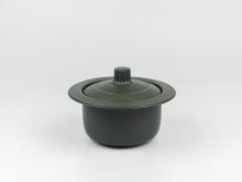 Nồi dưỡng sinh 1.0 L vành tròn + nắp  - Healthycook - Xanh rêu