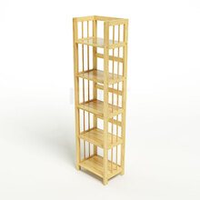 Kệ sách 5 tầng IBIE HB540 gỗ cao su màu tự nhiên (40x30x150cm)