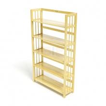 Kệ sách 5 tầng IBIE HB590 gỗ cao su màu tự nhiên (90x30x150cm)