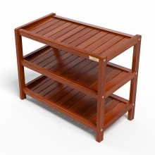 Kệ dép 3 tầng IBIE IB363 gỗ cao su 63x30x50 cm màu cánh gián