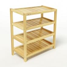 Kệ dép 4 tầng IBIE IB463 gỗ cao su 63x30x68 cm màu tự nhiên