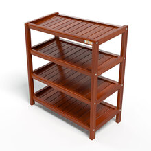 Kệ dép 4 tầng IBIE IB463 gỗ cao su 63x30x68 cm màu cánh gián