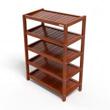 Kệ dép 5 tầng IBIE IB563 gỗ cao su 63x30x86 cm màu cánh gián
