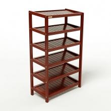 Kệ dép 6 tầng IBIE IB663 gỗ cao su 63x30x105 cm màu cánh gián