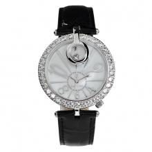 (SIÊU SALE) Đồng hồ nữ chính hãng Royal Crown 3850 dây da đen