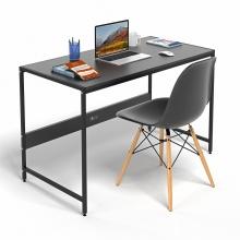 Bộ bàn làm việc CZN-Airy gỗ tự nhiên sơn đen chân đen và ghế eames đen  - COZINO