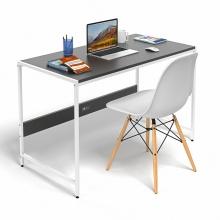 Bộ bàn làm việc CZN-Airy gỗ tự nhiên sơn đen chân trắng và ghế eames trắng  - COZINO