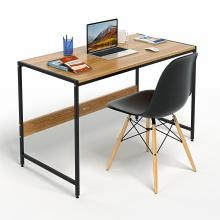 Bộ bàn làm việc CZN-Airy gỗ tự nhiên veneer sồi chân đen và ghế eames đen  - COZINO