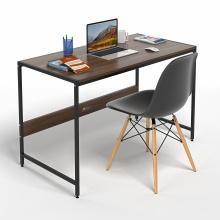 Bộ bàn làm việc CZN-Airy gỗ tự nhiên veneer óc chó chân đen và ghế eames đen  - COZINO