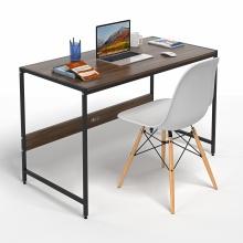 Bộ bàn làm việc CZN-Airy gỗ tự nhiên veneer óc chó chân đen và ghế eames trắng  - COZINO