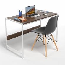 Bộ bàn làm việc CZN-Airy gỗ tự nhiên veneer óc chó chân trắng và ghế eames đen   - COZINO