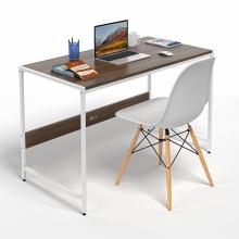 Bộ bàn làm việc CZN-Airy gỗ tự nhiên veneer óc chó chân trắng và ghế eames trắng  - COZINO