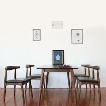 Bộ bàn ăn 4 ghế IBIE Bull màu walnut