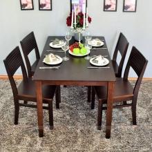 Bộ bàn ăn 4 ghế IBIE Gumi màu walnut