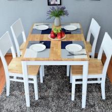 Bộ bàn ăn 4 ghế IBIE Gumi màu trắng