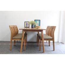 Bộ bàn ăn 4 ghế IBIE Hanam màu tự nhiên