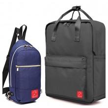 Combo balo du lịch Glado classical BLL011 (đen) + Túi messenger DCG028 (xanh)