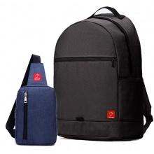 Combo balo du lịch Glado classical BLL006 (đen) + túi messenger DCG026 (xanh)