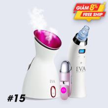 #15 Combo máy hút mụn, máy xông hơi và máy xịt khoáng Nano, massage mặt Eva Essence